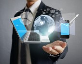 Technology in the hands — Stock Photo