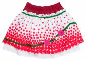 Red skirt isolated on white — Stock Photo