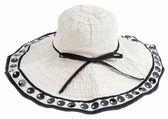 Fashion hat isolated on white — Stock Photo