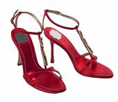 Red shoes isolated on white — Stock Photo