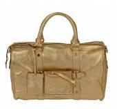 Beyaz altın el çantası isolted — Stok fotoğraf