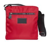 Red handbag isolated on white — Stock Photo