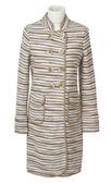 Striped coat isolated on white — Stock Photo