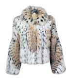 Leopard fur coat isolated on white — Stock Photo