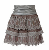 Lace skirt isolated on white — Stock Photo