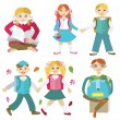 Back to school (vector illustration, flat concept) — Stock Vector #57346267