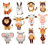 Set of animals icons (vector illustration) — Stock Vector