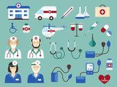 Medical icons set (vector illustration) — Stockvector