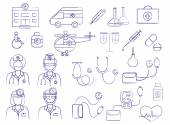 Medical icons set (vector illustration) — Stock Vector
