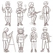 Set of people of different professions (vector illustration ) — Stock Vector #73226569
