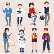 Set of people of different professions (vector illustration ) — Stock Vector #73226617