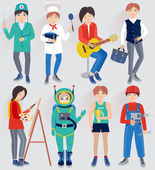 Set with people of different professions (vector illustration ) — Stock vektor