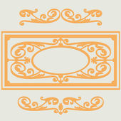 Vintage backgroun pattern, swirling decorative elements — Stock Vector