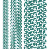 Set seamless pattern, silhouette design plant ornament — Vector de stock