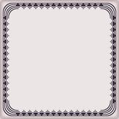 Frame geometric with decorative elements border pattern — 图库矢量图片