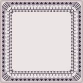 Frame vintage with decorative elements border  — Vettoriale Stock