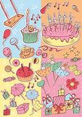Happy birthday party card — Stock Vector