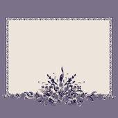 Frame bouquet vintage floral elements pattern — Vettoriale Stock