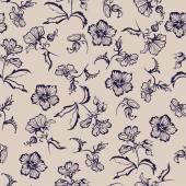 Seamless floral pattern silhouette flower — Stock vektor