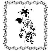 Drawing flower Frame floral — Stock Vector