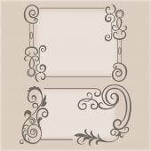 Frame swirling elements ornamental pattern — Stock vektor