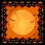 Halloween frame with pumpkins — Stock Vector #51955695