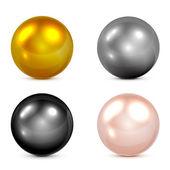 Conjunto de esferas — Vector de stock