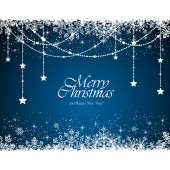 Blue Christmas background — Vettoriale Stock