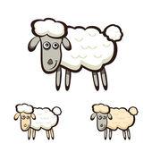 Three sheep — Stock Vector
