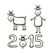Little goat — Stock Vector