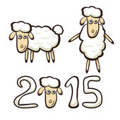 New Years sheep — Stock Vector
