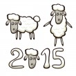 Set of sheep — Stock Vector #55431253