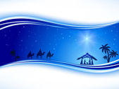 Christmas background with star — Stock Vector
