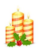 Boże narodzenie świece — Wektor stockowy