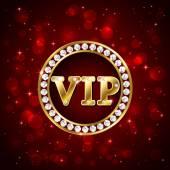 Vip on red background — Vector de stock