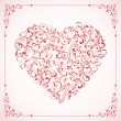 Valentines card with ornate Heart and frame — Stock Vector #61147155