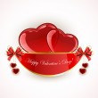 Valentines decoration with hearts — Stock Vector #62192997