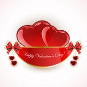 Valentines decoration with hearts — Vector de stock