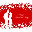 Couple on Valentines background — Stock Vector #62252699