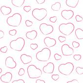 Pink drawing hearts — Vector de stock