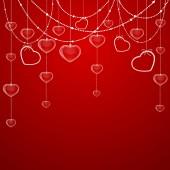Sevgililer dekorasyon yürekleri — Stok Vektör