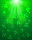 Green Patricks day background — Stock Vector