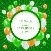 Patricks day background with balloons — Stock Vector