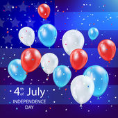 Independence day balloons — Stock Vector