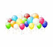 Colorful balloons with stars — Wektor stockowy