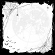 Halloween background with spiders and bats — Stock Vector #76400461