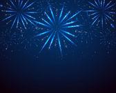 Blue sparkle fireworks — Stock Vector
