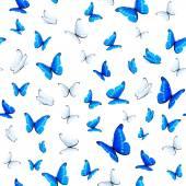 Sfondo senza soluzione di continuità con le farfalle — Vettoriale Stock