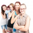 Group of teen girls smiling — Stock Photo #59811911