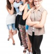 Group of five teen girls smiling — Stock Photo #59811933